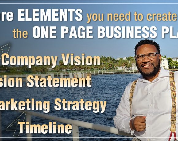 """4-Key Elements to Creating a """"One Page Business Plan"""""""